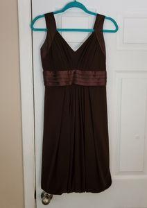 Night Way brown bridesmaid dress